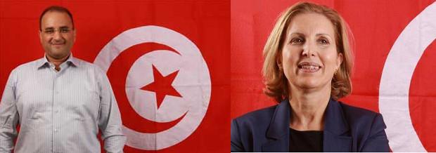 Anis Ghedira (à gauche) est le nouveau ministre tunisien du Transport. Selma Elloumi Rekik reste ministre du Tourisme - Photos : Tunisie.gov.tn