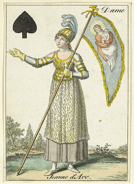 card from a deck (collection of Rouen's Municipal library)
