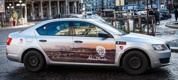 L'Office de Tourisme d'Abu Dhabi s'affiche sur 250 taxis de Paris - Photo : Visit Abu Dhabi