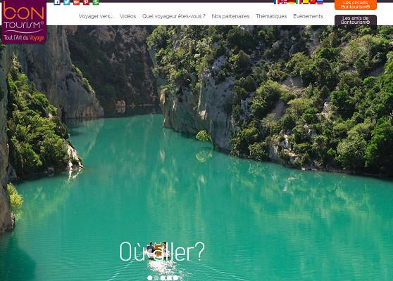Bontourism.com est un portail touristique en ligne lancé en mars 2015 - Capture d'écran