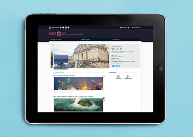 La plateforme facilite les mises en relation entre voyageurs - (c) Links & Go