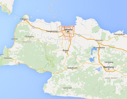 Les explosions ont eu lieu dans le centre de Jakarta - DR : Google Maps