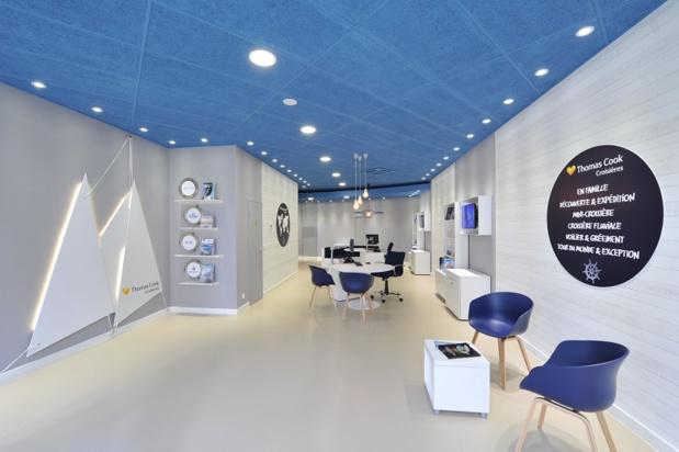 Dans son agence du Prado à Marseille, Thomas Cook a dédié un grand espace à la croisière - DR : Thomas Cook
