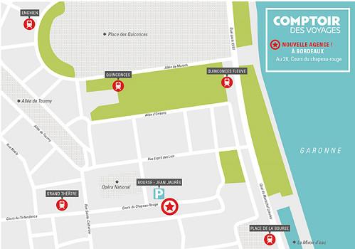 L'agence Comptoir des Voyages ouvrira au 4 cours du Chapeau-Rouge à Bordeaux - DR : Comptoir des Voyages