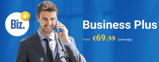 Le service Business Plus est disponible à la réservation sur le site Internet de Ryanair - Capture d'écran
