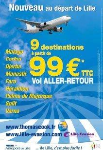 Thomas Cook : offres spéciales vols secs au départ de Lille
