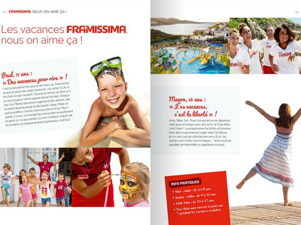 La brochure des avant-premières 2016 de FRAM recense l'ensemble de l'offre en clubs Framissima - DR : Brochuresenligne.com