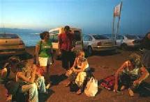 Des touristes en attente d'évacuation à Taba