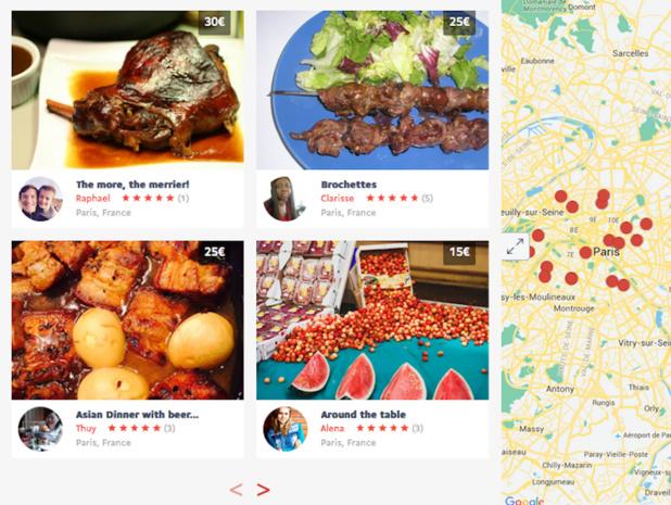 Les hôtes fixent librement leurs prix et menus - (c) Capture VizEat