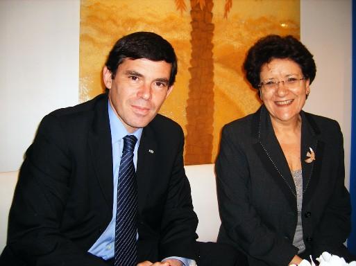 Khelil Lajimi Ministre du Tourisme de Tunisie et Fetia Knani directrice de l'Office de Tourisme de Tunisie pour la France