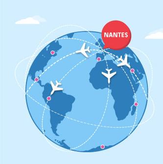 Le trafic européen de l'aéroport de Nantes Atlantique porte la croissance de la plateforme en 2015 - DR : Vinci