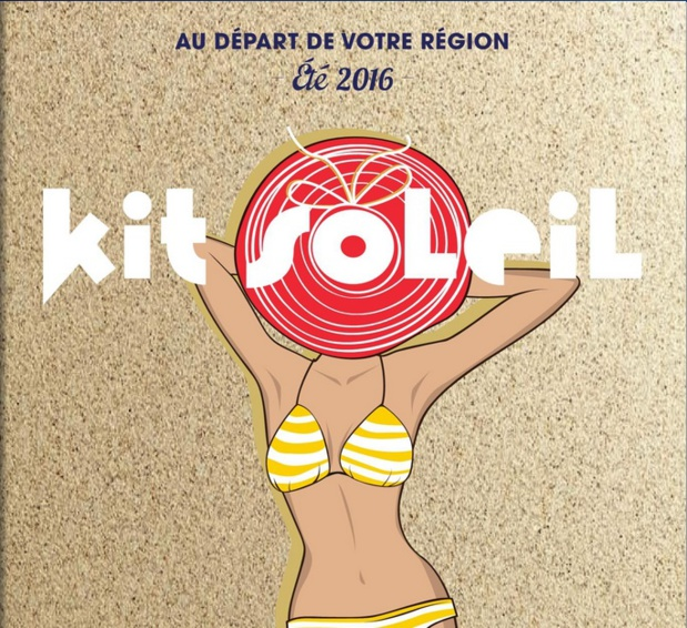 La couverture de la brochure Kit Soleil, publiée par Kit Voyages - Photo DR