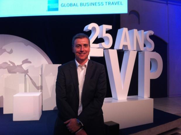 Guillaume Col, PDG d'American Express Voyages d'Affaires France veut repenser son métier pour lutter contre la concurrence. DR-LAC