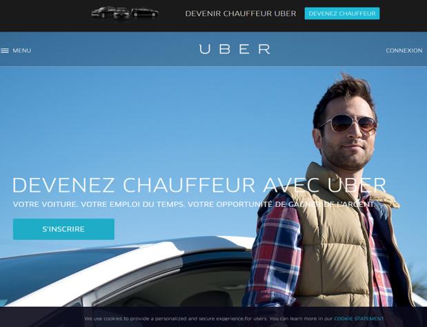 """Uber, c'est moins cher, le service est nickel et, contrairement à ce que veux bien écrire (fort bien d'ailleurs) ma chère Léa, ça créée des emplois. Des emplois nouveaux que sont bien contents de trouver un nombre impressionnant de """"délaissés"""" du travail, tant jeunes que plus âgés. - Capture écran"""