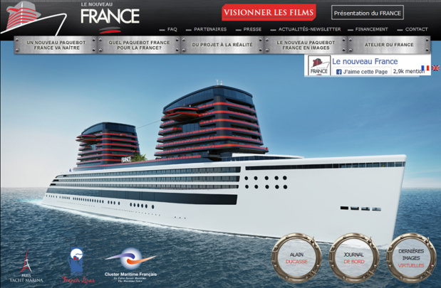 """Le nouveau paquebot France """"avance"""" sur la levée de fonds"""