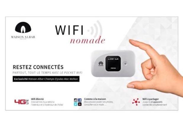 Un service Wifi nomade pour les voyageurs - (c) Maison Albar