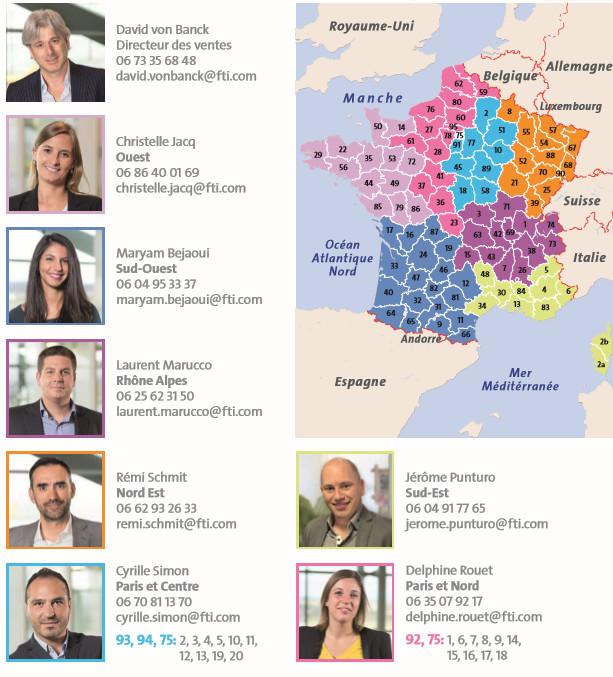 FTI recrute 3 commerciaux et une nouvelle responsable service client