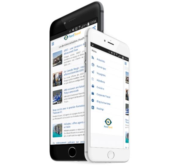 Feed Travel, la veille info tourisme au bout des doigts ! Une appli mobile créée par un étudiant de l'ESCAET © FeedTravel
