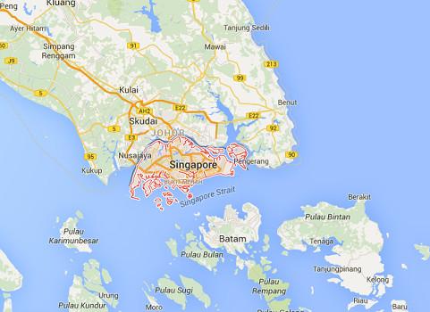 Singapour équipe actuellement ses postes frontières pour prendre les empreintes digitales des voyageurs - DR : Google Maps