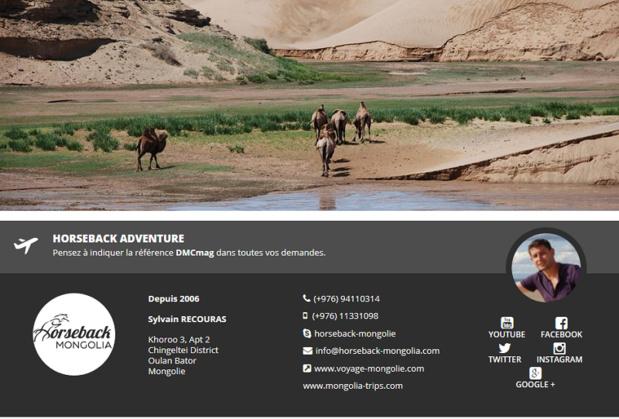 Mongolie : DMCMag.com accueille HorseBack Adventure