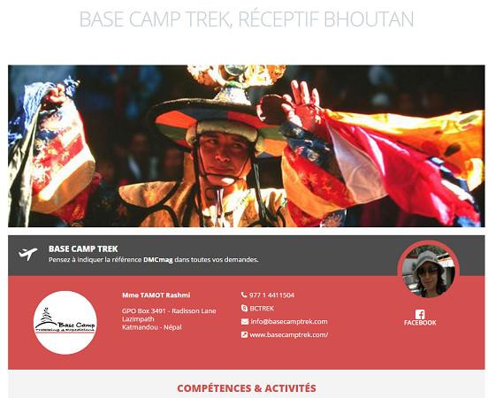 Base Camp Trek lance trois fiches sur DMCMag.com - Capture d'écran
