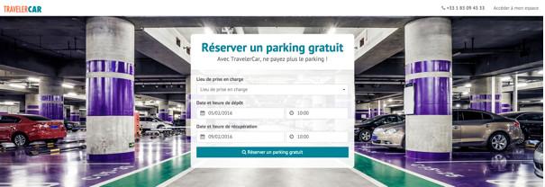 TravelerCar propose un service d'autopartage entre particuliers - Capture d'écran