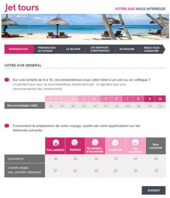 Jet tours change sa manière d'évaluer la satisfaction de ses clients - DR : Jet tours