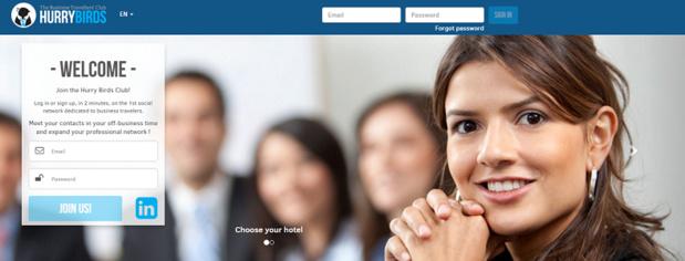 Les utilisateurs d'HurryBirds s'identifient via leur profil Linkedin - Capture d'écran