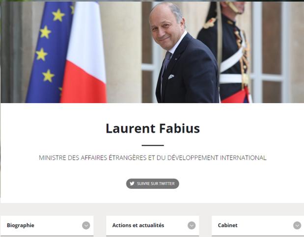Laurent fabius, ministre des Affaires étrangères et du Développement international est en charge du Tourisme au Gouvernement - DR : Gouvernement.fr