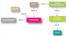 Actionnariat de Transdev en 2009, avant la fusion - DR : Cour des Comptes