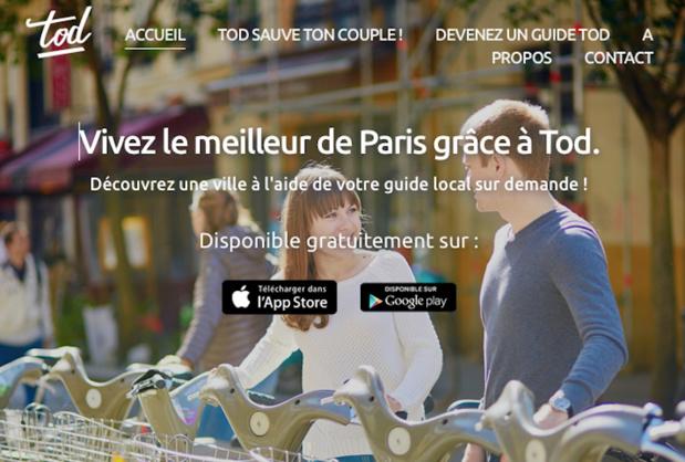 L'application propose des guides disponibles en temps réel et à proximité - (c) Tod
