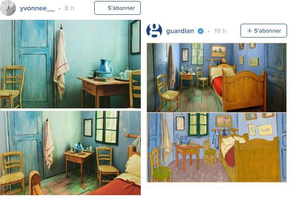 La chambre reproduit fidèlement la peinture de Vincent Van Gogh - Photos : Instagram