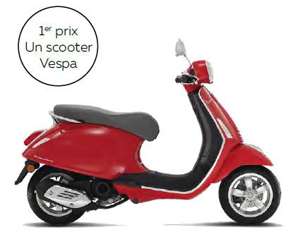 Le challenge de ventes Donatello permet de remporter un Vespa - Photo : Vespa