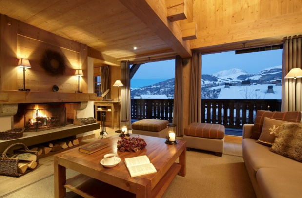 L'Alpaga in Megève is a 5 star hotel created like a private village at 1,100 meters high - DR: Les Hôtels d'en Haut