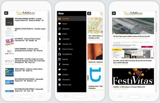 La nouvelle version de l'appli mobile de TourMaG.com intègre les annonces d'emploi - Captures d'écran