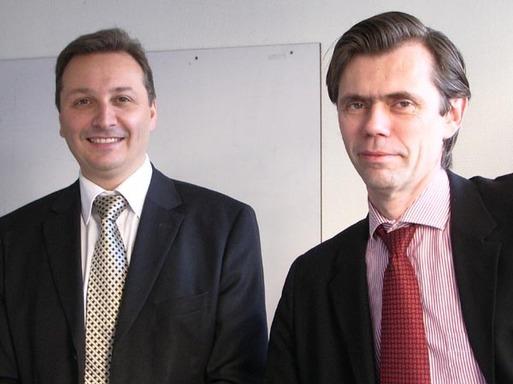 Les co-fondateurs de Media Welcome, François Balland (DG, à gauche) et Frédéric Momal (Président)