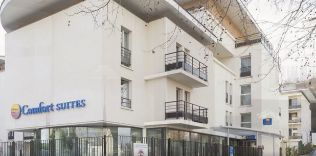 The Comfort Suites Port-Marly Paris Ouest has 120 apartment near Paris - Photo: Choice Hotels Europe