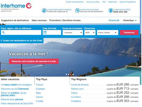 InterHome renforce ses activités en Suisse - Capture d'écran