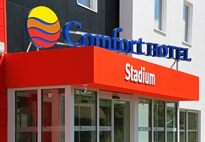 The Comfort Hotel Stadium Eurexpo Lyon is located steps away from the new Grand Stade de Lyon - Photo : Choice Hotels