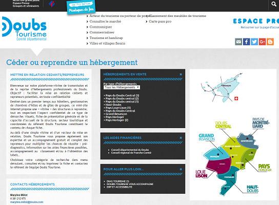 La plateforme aide les vendeurs et les repreneurs pour la cession d'hébergements touristiques - Capture d'écran