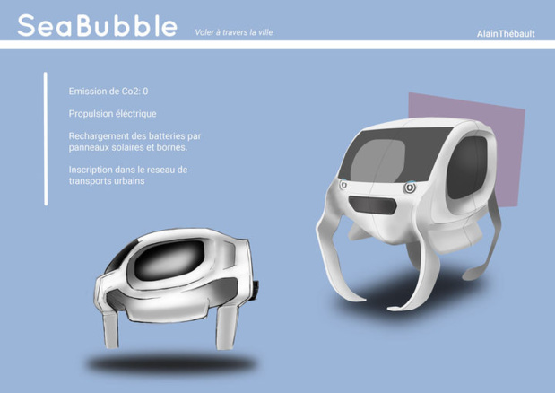 La capsule avance en suspension - (c) Sea Bubble