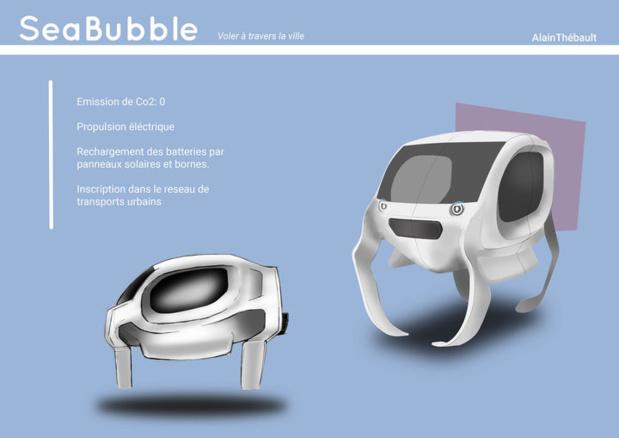 La capsule avance en suspension - (c) Sea Bubble