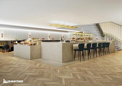 Le salon de Qantas à Londres-Heatrow pourra accueillir jusqu'à 230 passagers simultanément - DR : Qantas