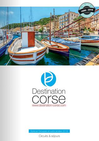 Couverture de la brochure de Destination Corse - Capture d'écran Brochuresenligne.com