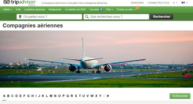 Les compagnies aériennes pourraient-elles craindre les avis publiés sur le site de TripAdvisor. DR-TripAdvisor.
