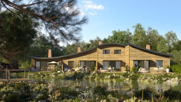 Model of a cottage at Villages Nature Paris