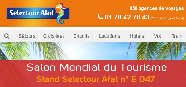 Salon mondial du tourisme selectour afat pr sent pour la for Salon mondial tourisme