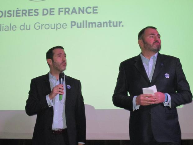 Antoine Lacarrière directeur général de Croisières de France (à droite) et ... venu d'Espagne le président de Pullmantur.