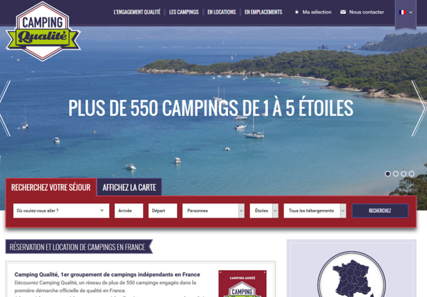 Camping Qualité lance sa plateforme de réservations en ligne
