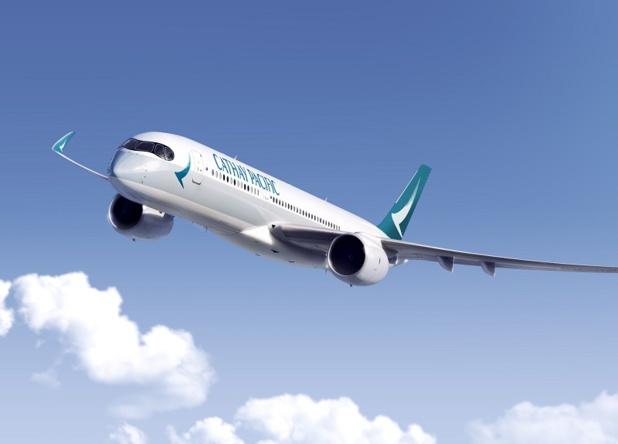 Cathay Pacific procède au renouvellement de sa flotte. La livraison du premier Airbus A350-900 XWB est programmée en mai 2016. Douze autres livraisons de cet appareil sont prévues sur l'année 2016 - Photo Cathay Pacific